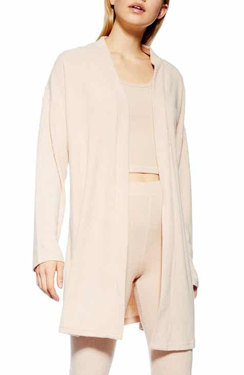 Topshop Brushed Rib Cardigan by TOPSHOP
