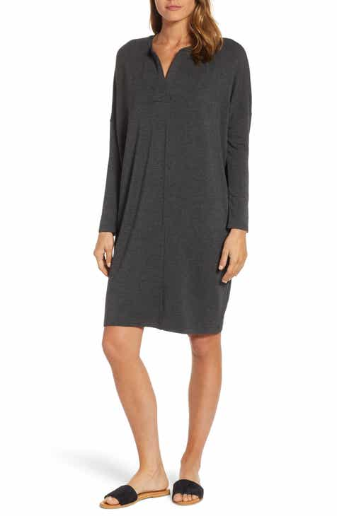 2deecf1fc260 Lou   Grey Nash Cocoon Split Neck Dress
