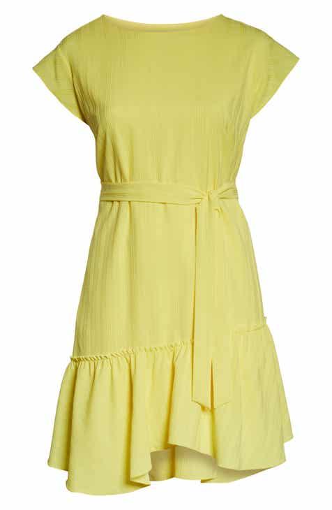c22ef97df7 Vince Camuto Asymmetrical Ruffle Hem Dress (Plus Size)