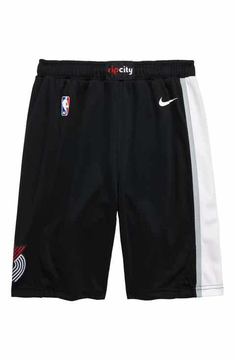 NBA Logo Icon Portland Trailblazers Basketball Shorts (Big Boys)