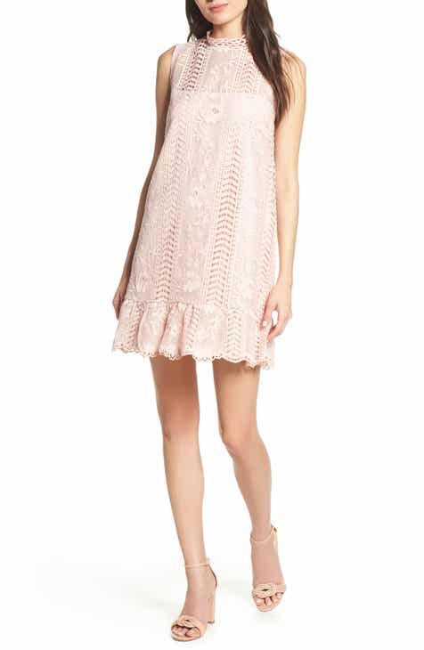 BB Dakota Sheri Mock Neck Sleeveless Lace Mini Shift Dress by BB DAKOTA