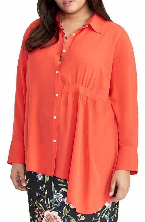 5aa7ba4b2021 RACHEL Rachel Roy High Low Shirt (Plus Size)