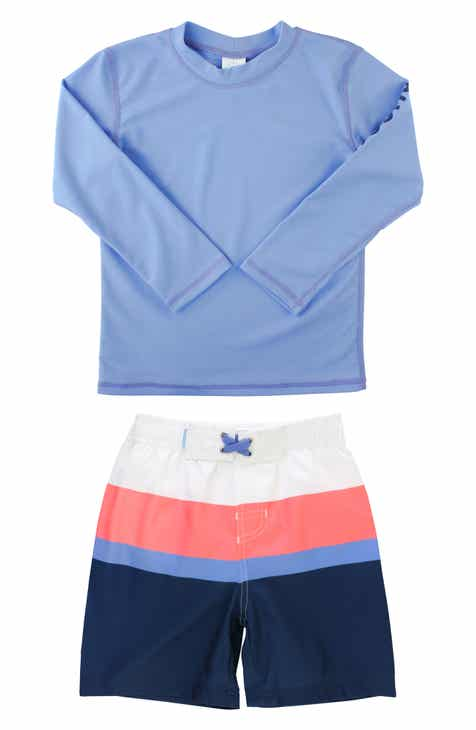 54f5788fdb RuggedButts Colorblock Two-Piece Rashguard Swimsuit (Baby)