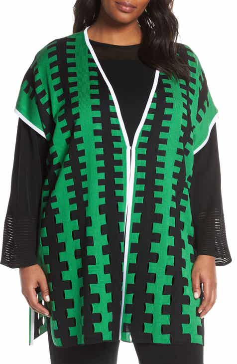 Ming Wang Long Cardigan (Plus Size) by Ming Wang