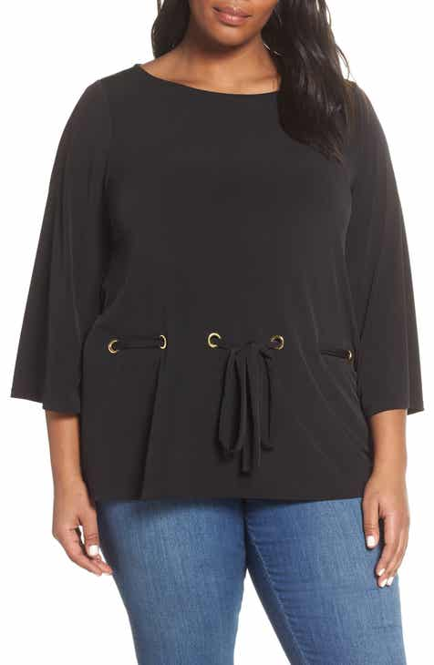 f1700b1e20a MICHAEL Michael Kors Grommet Tie Through Top (Plus Size)