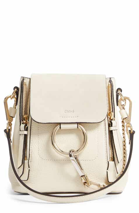 Chloé Mini Faye Leather   Suede Backpack 03c0f59fb8fdc