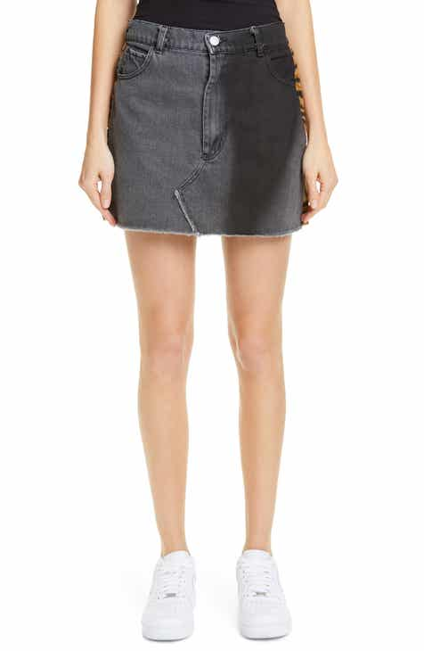 Ashley Williams Stephanie Denim & Faux Fur Miniskirt by ASHLEY WILLIAMS