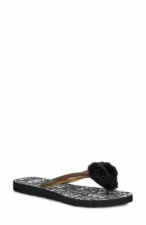 147b8a7bf27 UGG® Simi Fluff Manifesto Flip Flop with Genuine Shearling Trim (Women)