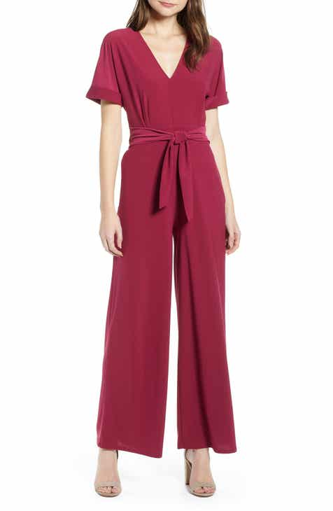 Chelsea28 V-Neck Knit Jumpsuit by CHELSEA28