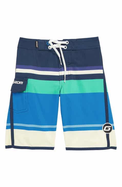 Grom Big Stripe Board Shorts (Little Boys & Big Boys)