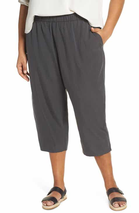 1929d4af627 Eileen Fisher Slouchy Crop Pants (Plus Size)