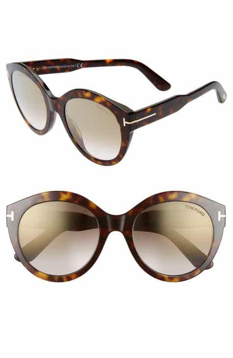 0ed0721dac Tom Ford Rosanna 54mm Round Cat Eye Sunglasses