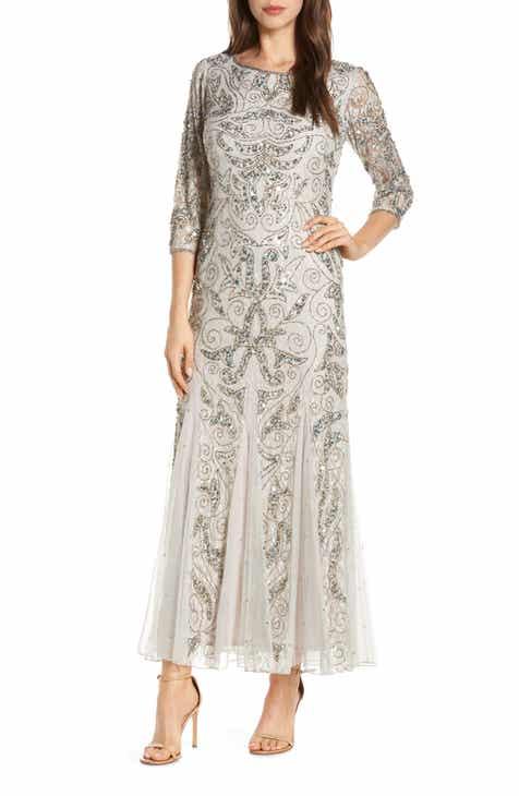 02ddb13365e2 Pisarro Nights Beaded Lace Gown (Regular & Petite)