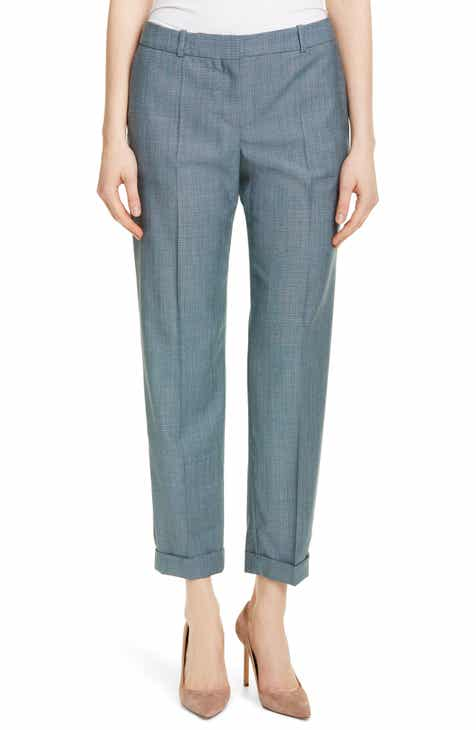 BOSS Tocanes Minidessin Wool Ankle Trousers (Regular & Petite) by BOSS HUGO BOSS