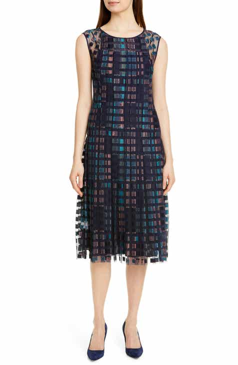 Vince Camuto Linear Motion Midi Dress by VINCE CAMUTO