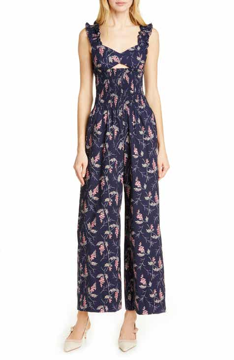 Rebecca Taylor Ivie Floral Cotton Jumpsuit by REBECCA TAYLOR