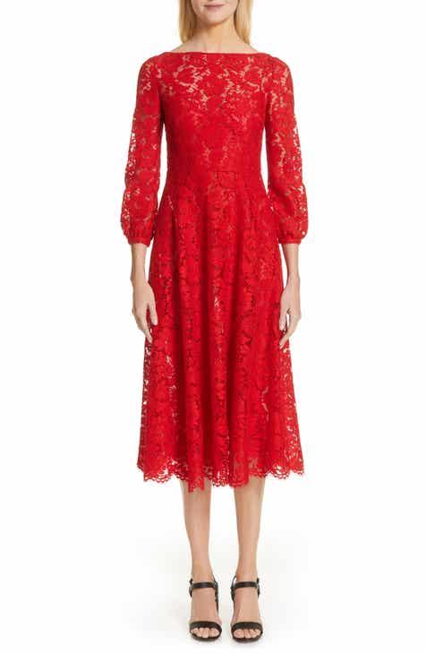 f45ba55a8ae Valentino Lace A-Line Midi Dress