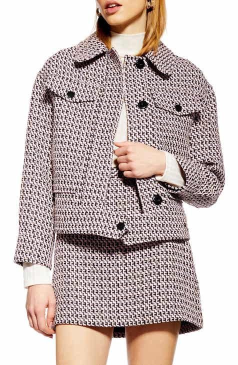 Topshop Dixie Textured Bouclé Jacket by TOPSHOP