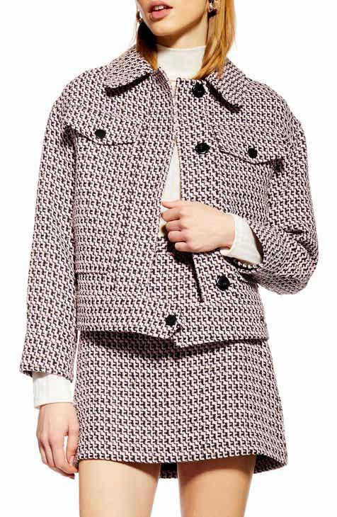 Topshop Dixie Textured Bouclé Jacket by TOPSHOP