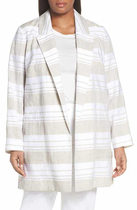 CeCe Moss Crepe Tailored Blazer (Plus Size) by CECE