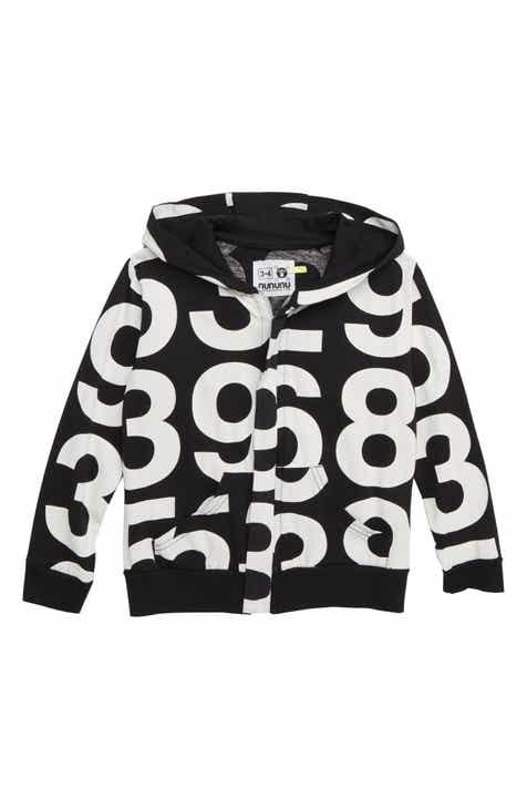 a141c91fc1b Nununu Numbered Zip Hooded Sweatshirt (Toddler Boys