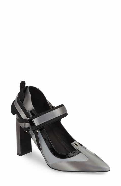 8988283505e Jeffrey Campbell Hysteria Reflective Mary Jane Pump (Women)