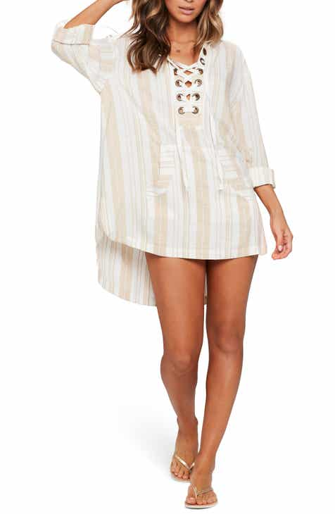 ea3f203d L Space Love Letters Cover-Up Tunic