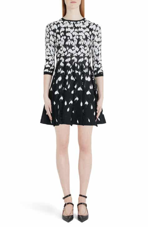 Valentino Bucaneve Jacquard Sweater Dress