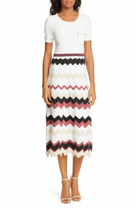 DVF Gaia Chevron Pattern Dress by DVF