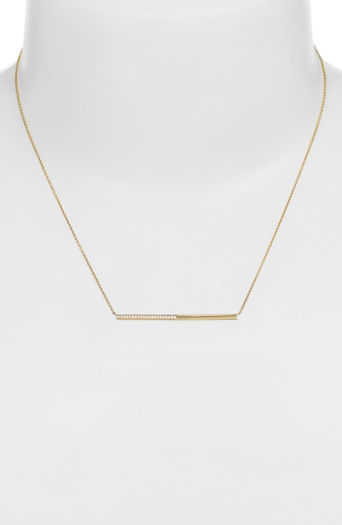 Alternate Image 2  - Bony Levy Diamond Bar Pendant Necklace (Limited Edition) (Nordstrom Exclusive)