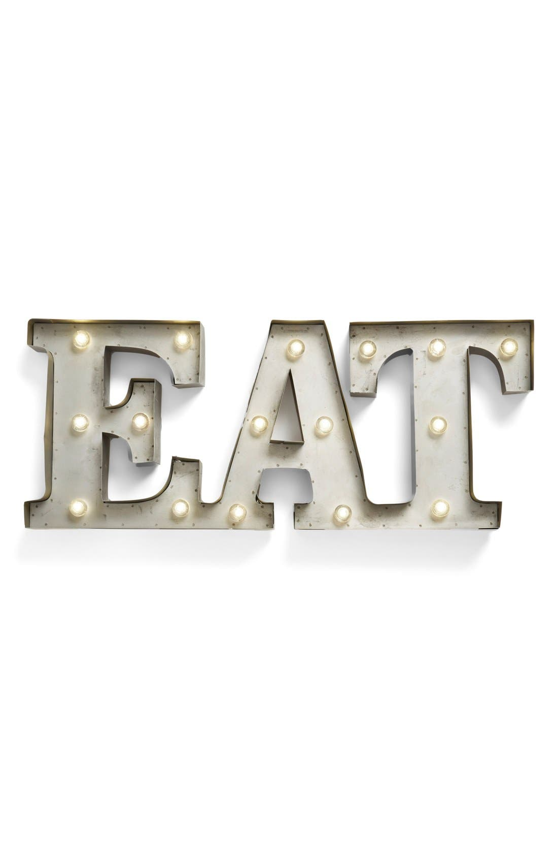 Alternate Image 1 Selected - Creative Co-Op 'EAT' LED Marquee Sign