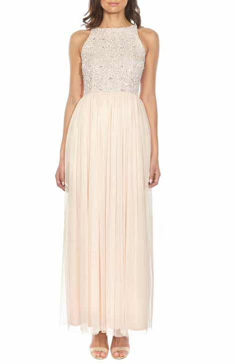 01151772782 Lace   Beads Picasso Embellished Bodice Evening Dress