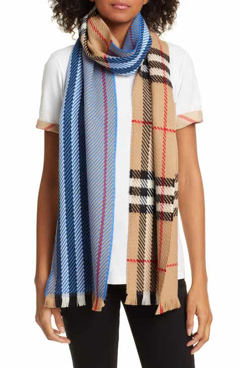Burberry Colorblock Giant Check Wool Scarf f64f889634