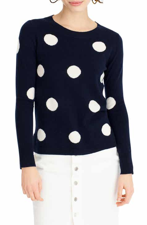 3142f0c27bea J.Crew Everyday Cashmere Polka Dot Sweater