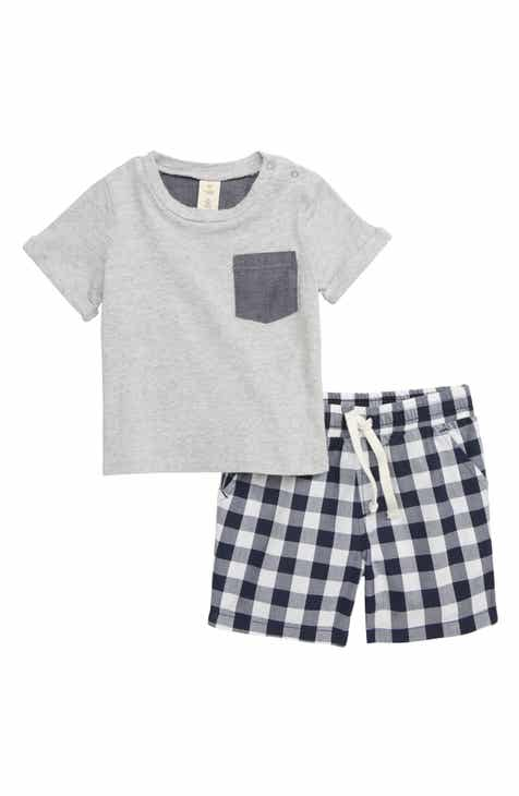 8495f2a9a5e Tucker + Tate Weekend Plaid Pocket T-Shirt   Shorts Set (Baby)