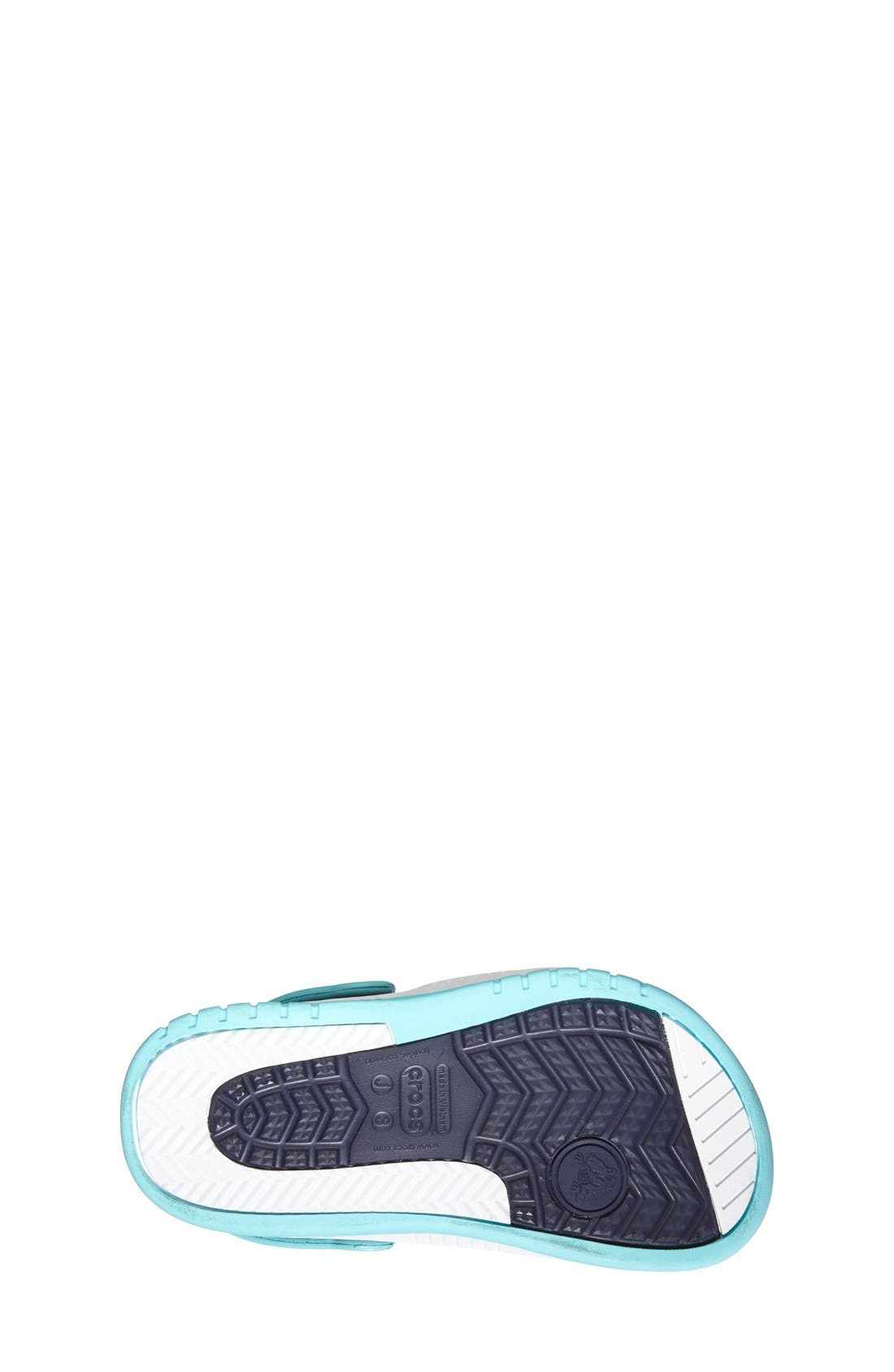 Alternate Image 4  - CROCS™ 'Front Court' Sandal (Walker, Toddler & Little Kid)