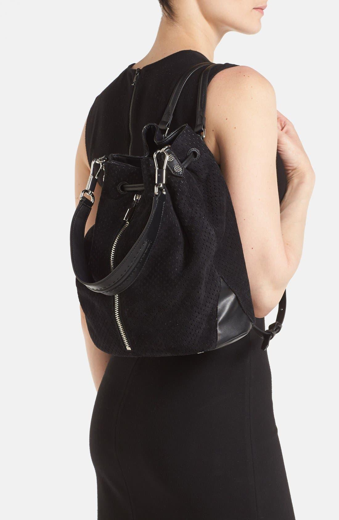 Alternate Image 2  - Elizabeth and James 'Cynnie' Perforated Sling Backpack