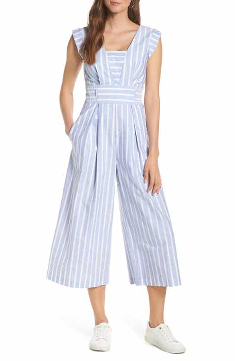 1901 Square Neck Cotton Jumpsuit (Regular & Petite) by 1901
