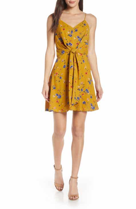 957d375c30775 19 Cooper Floral Print Tie Front Dress