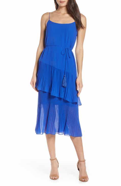 Chelsea28 Ruffle Tie Waist Midi Dress