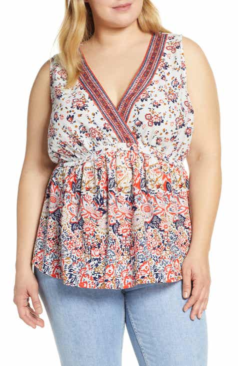 fb0d19d40b636 Lucky Brand Floral Romantic Top (Plus Size).  79.50. Product Image