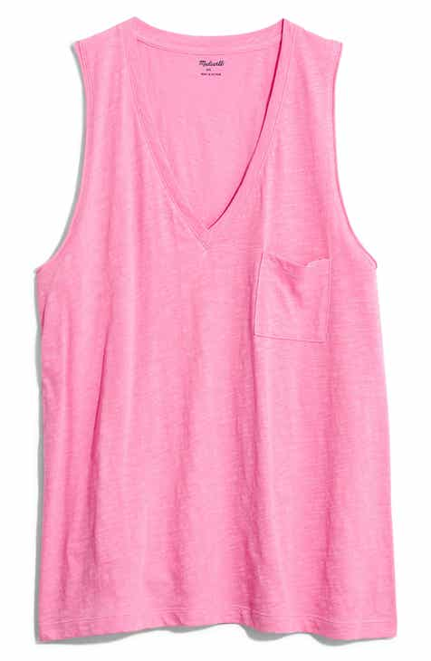2019 Sale  Madewell Whisper Cotton V-Neck Tank Sale
