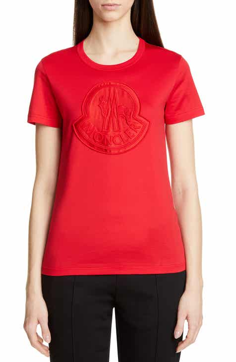 7c386d24ee Moncler Logo Patch Cotton Tee