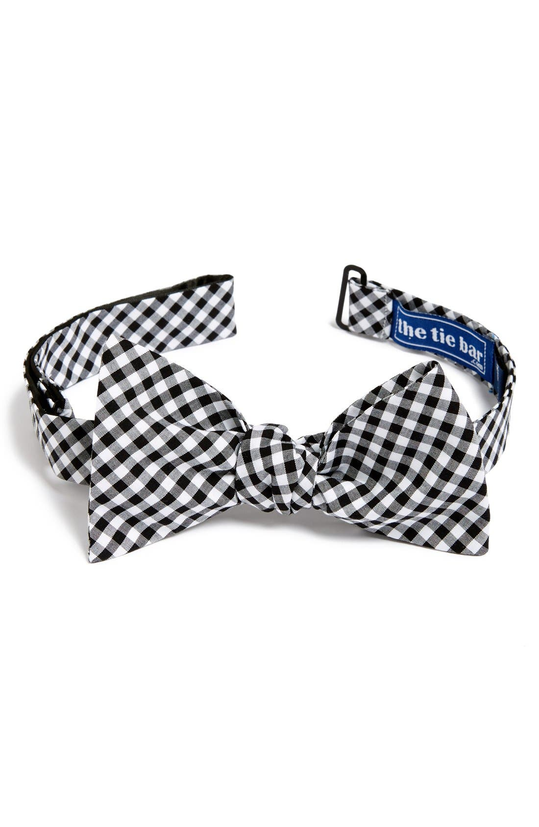 THE TIE BAR Gingham Cotton Bow Tie