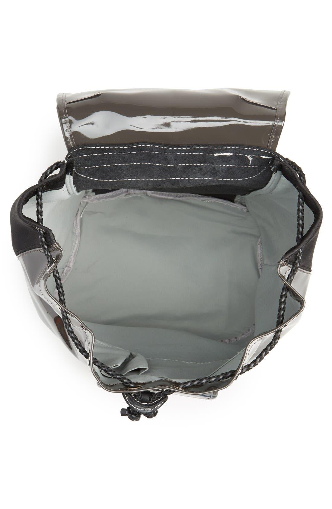 Alternate Image 3  - Harper Ave 'Philip' Neoprene & Faux Patent Leather Backpack