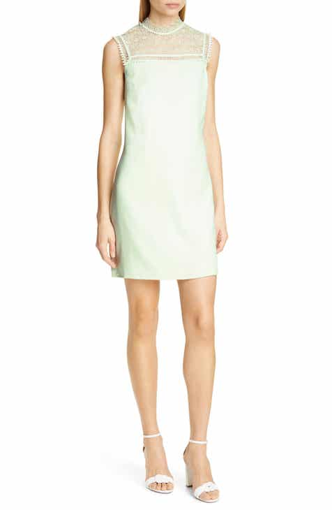 Ted Baker London Carsey Crocheted Lace Yoke Shift Dress by TED BAKER LONDON
