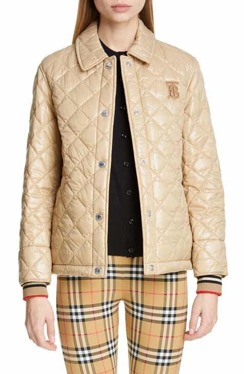 Burberry Heathfield Frinton Knit Cuff Quilted Jacket 7b9359a47d