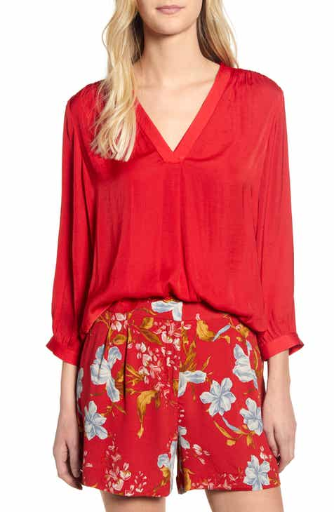 72c440ef163 Vince Camuto Rumple Fabric Blouse