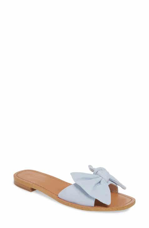 73d09f1be10 Something Navy Cici Bow Flat Slide Sandal (Women) (Nordstrom Exclusive)