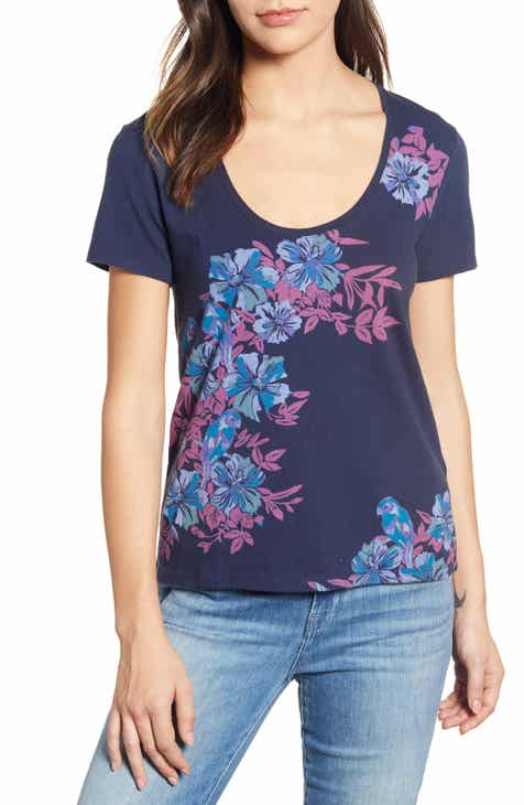 ae69726ed680 Lucky Brand Parrot Floral Print Tee